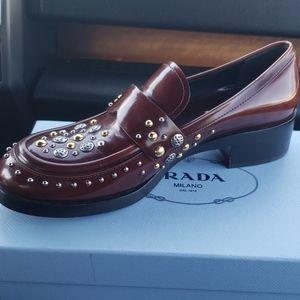 Prada flat heels loafers prada shoes